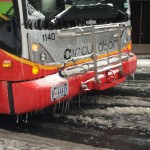 Front of Bus Snow (1)