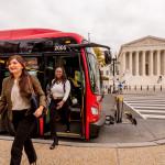 DC Circulator stops near the Supreme Court