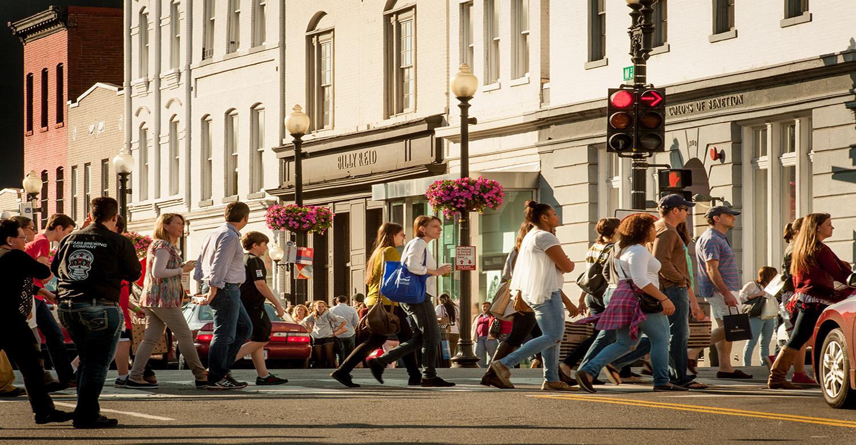 Georgetown Crosswalk on M Street NW