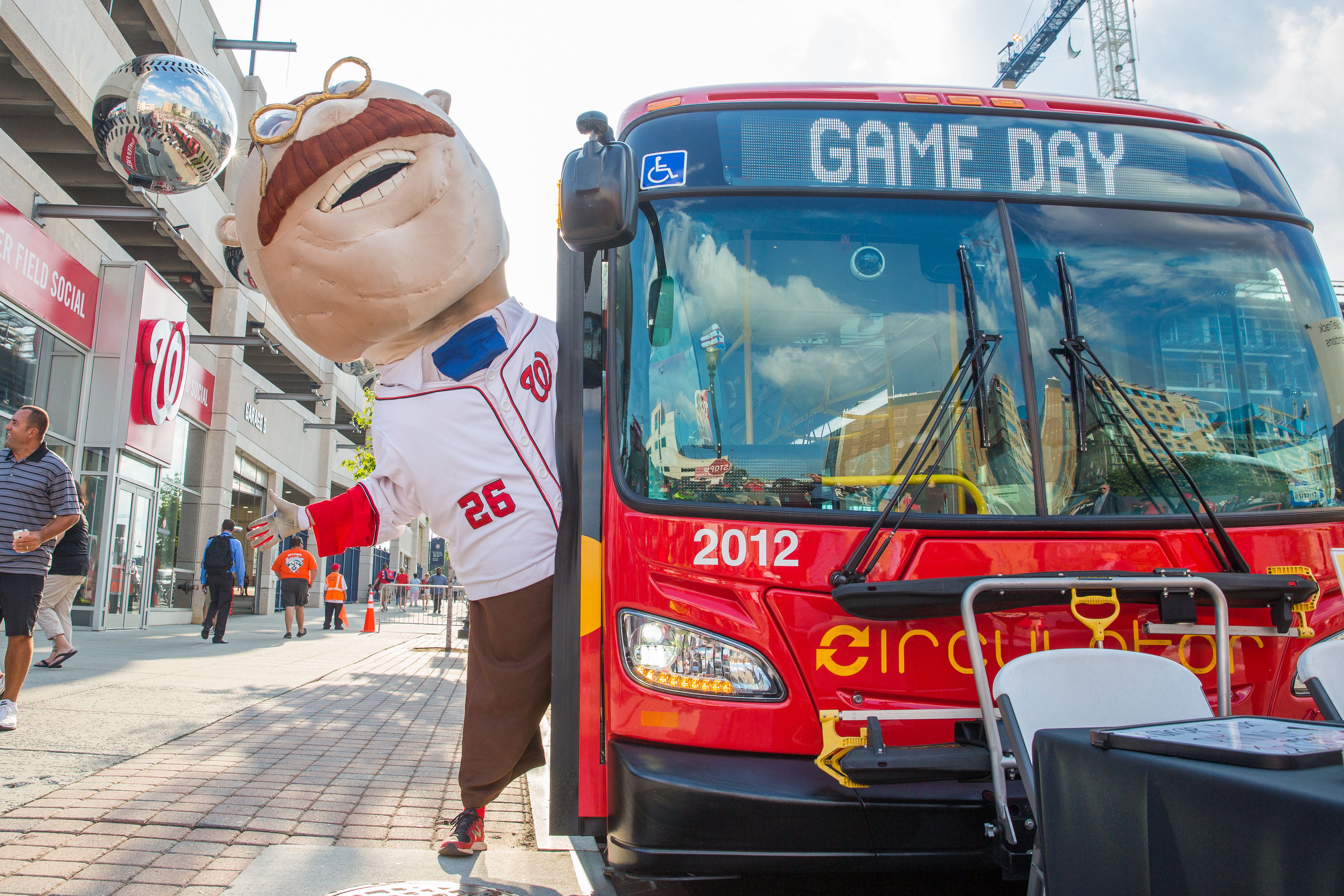DC Circulator on Game Day at Nationals Stadium