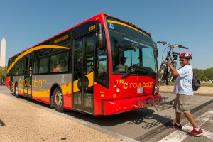 Placing Bike on Circulator Bus