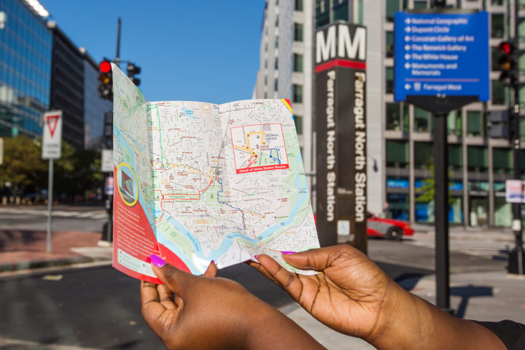 Picture of Person Holding Map