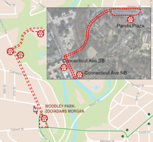 DC Circulator Zoo Express Bus Shuttle Map